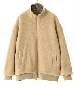 BOUCLE WOOL KNIT × MILLING C/W TWILL REVERSIBLE JACKET