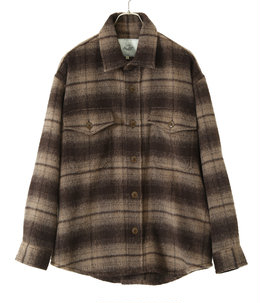 ALPACA WOOL SHAGGY CHECK C.P.O JACKET
