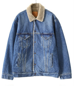 14oz. DENIM JACKET BOA FLEECE LINING HARD WASHED