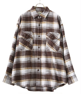 SLUB NEL CHECK BIG POCKET WORK SHIRT