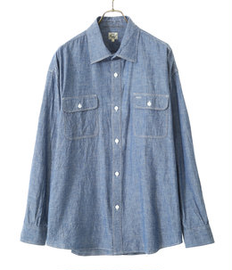【予約】BLUE CHAMBRAY  BIG WORK SHIRT