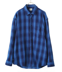 【ONLY ARK】別注 INDIGO NEL CHECK BIG SHIRT