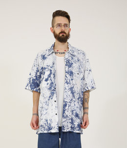 SUVIN COTTON BROAD S/S REGULAR SHIRT SPLASH DYED