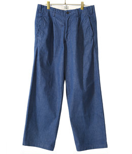 12oz. DENIM 1TUCK WIDE TROUSERS