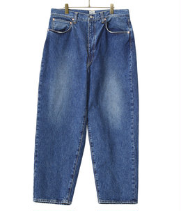 14oz. DENIM 5POCKET WIDE PANTS HARD WASHED