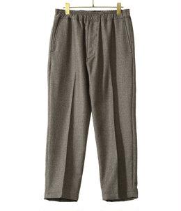 WOOL TWILL SLIM EASY PANTS