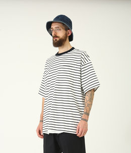 14/- HEAVY COTTON BORDER S/S WIDE T-SHIRT