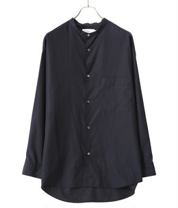 Broad L/S Oversized Band Collar Shirt