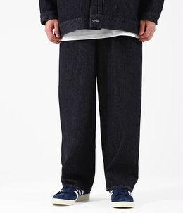 Colorfast Denim Two Tuck Pants