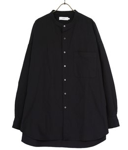 Oxford Oversized Band Collar Shirt
