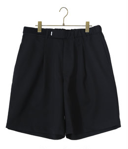 Selvage Wool Wide Tuck Chef Shorts