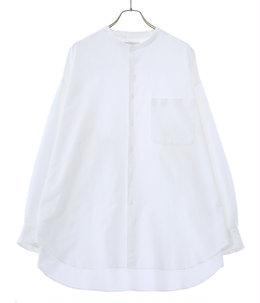Oxford Oversized Band Collar Shirt