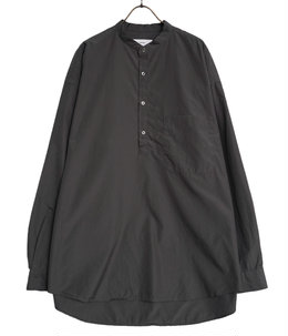 Broad Oversized Band Collar Pullover Shirt