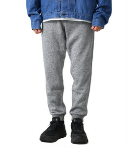 BONDING KNIT FLEECE NARROW RIB PANTS