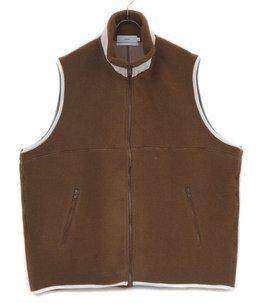 Wool Boa Zip-Up Vest