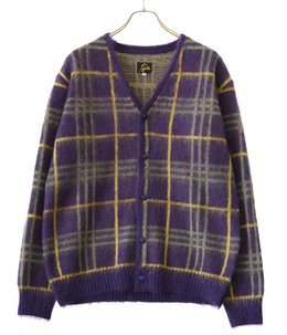 Mohair Cardigan - Plaid