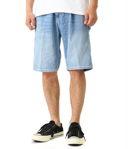 RUCK SINGLE KNEE SHORT(Blue worn bleached)