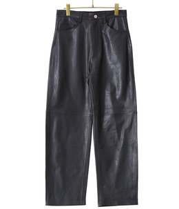 【予約】Sheep leather 5pocket pants