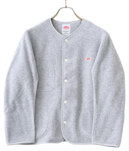 【レディース】NO COLLAR FLEECE SHORT CARDIGAN