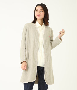 【レディース】NO COLLAR FLEECE LONG CARDIGAN