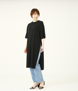 【レディース】FRESCA LONG SLIT T-SHIRT