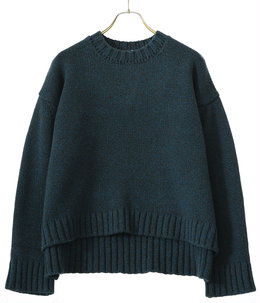 【予約】SILTE MOULINE OVERSIZED CREWNECK SWEATER