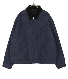 Denim Zipper Blouson