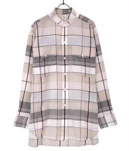 Stand Collar Safari Shirt