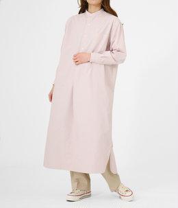 【レディース】BAND COLLAR PULLOVER DRESS 《STRIPE》