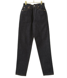 """""""LUCY"""" HIGH WAIST TAPERED JEANS《NON-WASH》"""