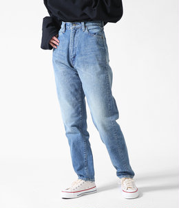 "【レディース】""LUCY"" HIGH WAIST TAPERED JEANS《FADE INDIGO》"