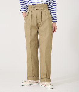 【レディース】DOUBLE BELTED GURKHA TROUSERS