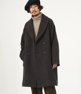 【予約】SHAWL COLLAR COAT - falkland wool tweed -