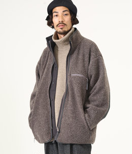 【予約】REVERSIBLE BOA JACKET - wool sheep pile -