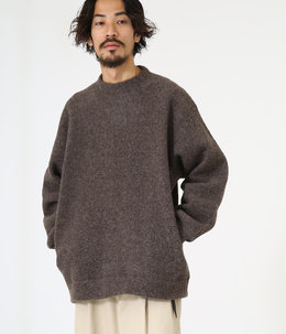 【予約】CREW NECK - wool sheep pile -