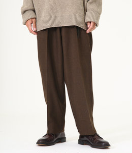 2TUCK COCOON FIT - wool soft serge -