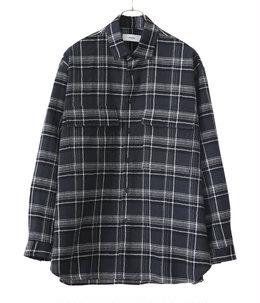 FLAP POCKET SHIRT - wool check -