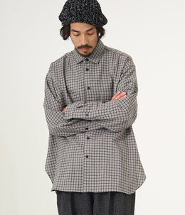 FLAP POCKET SHIRT - wool check -