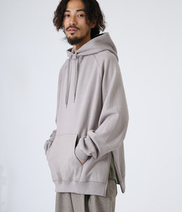 SIDE ZIP HOODIE - spain pima cotton fleece -