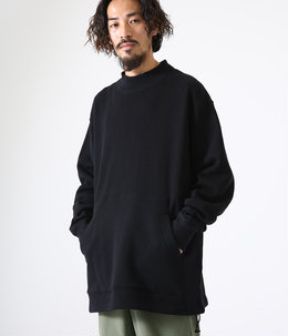 MOCK NECK - organic cotton fleece -
