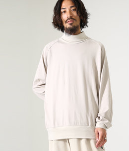 LOOSE NECK - combed cotton knit -