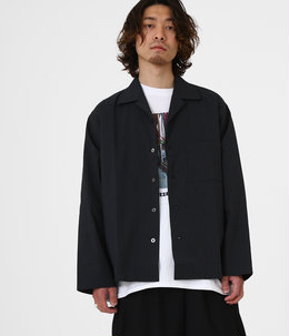 【ONLY ARK】別注 SIDE SLIT OPEN COLLAR SHIRTS - coolmax sucker -
