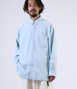 POLO COLLAR SHIRT - 6oz denim -