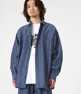 【ONLY ARK】別注 WIDE FIT SHIRT - cu/li/co cloth -