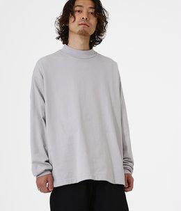 【予約】MOCK NECK - 30/2 combed cotton knit brushed -