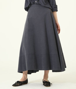 【レディース】BACK SATIN MAXI FLARE SKIRT