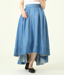 【レディース】TUCK VOLUME SKIRT CU/LI