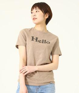【レディース】【別注】HELLO CREW NECK TEE-BEIGE-
