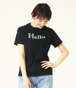 【レディース】HELLO CREW NECK TEE