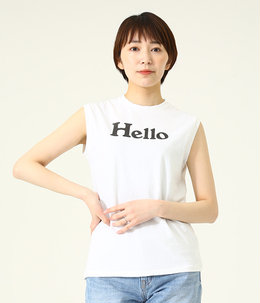 【レディース】HELLO NOSLEEVE TEE